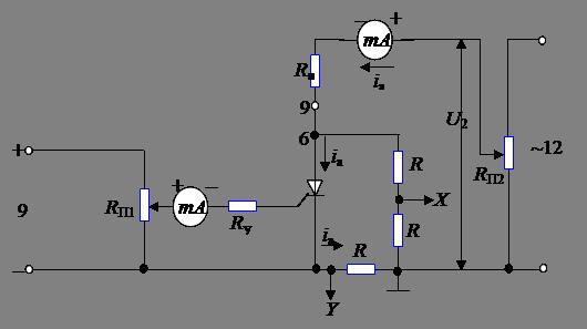 Схема включения тиристора на